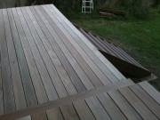 Construction d'une terrasse yc charpente dessous