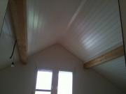 Plafond neuf en lames